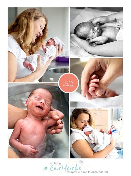 Lynn prematuur geboren met 34 weken, keizersnede, couveuse, sonde, neonatologie