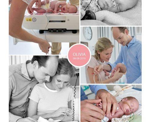 Olivia prematuur geboren met 29 weken, Spaarne Gasthuis, gebroken vliezen, spoedkeizersnede, NICU, sonde