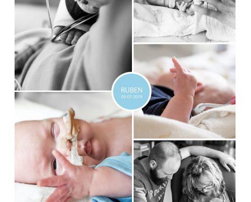Ruben prematuur geboren met 25 weken, Isala, badderen, sonde, couveuse