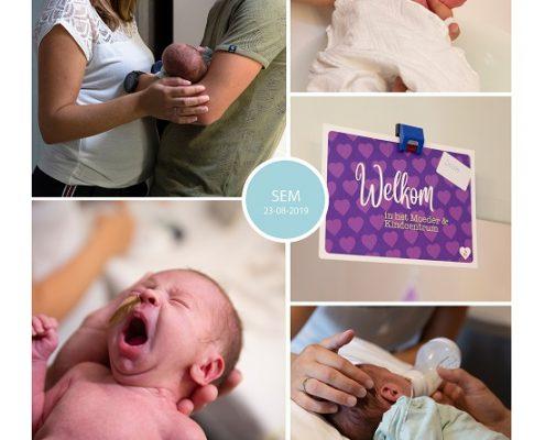 Sem prematuur geboren met 33 weken en 2 dagen, weeenremmers, Bravis moeder en kind, sonde