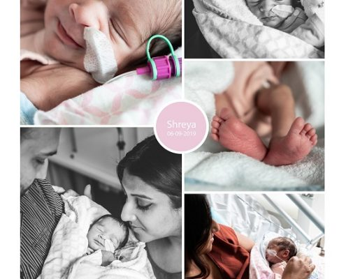 Shreya prematuur geboren met 34 weken en 1 dag, Antonius ziekenhuis, borstvoeding, sonde, knuffelen, keizersnede