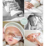 Teun prematuur geboren met 32 weken en 6 dagen, weeenremmers, longrijping, gebroken vliezen, sonde
