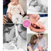 Kira prematuur geboren met 33 weken, UMCG, CPAP, sonde