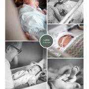 Liam prematuur geboren met 34 weken, Tjongerschans, borstvoeding, spoedkeizersnede, sonde
