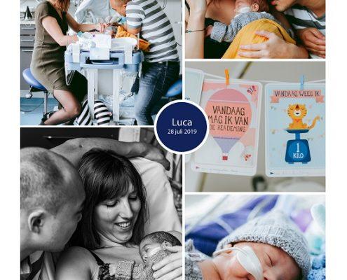 Luca prematuur geboren met 25 weken en 4 dagen, Sophia Kinder Ziekehuis, knuffelen, sonde