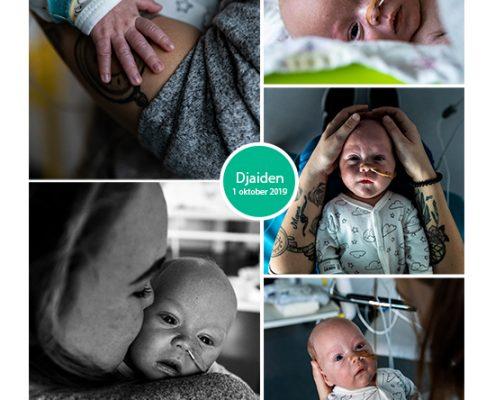 Djaiden prematuur geboren met 35 weken, Spaarne Gasthuis Haarlem, sonde, vroeggeboorte