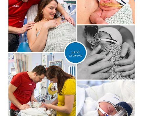 Levi prematuur geboren met 27 weken, AZM, buidelen, vroeggeboorte, CPAP