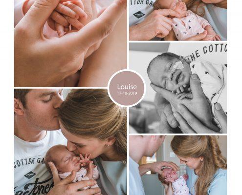 Louise prematuur geboren met 33 weken, weeenremmers, longrijping, keizersnede, sonde