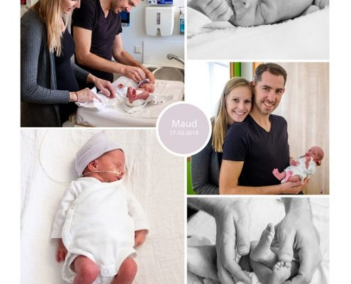 Maud prematuur geboren met 32 weken, CWZ, Radboud, groeiachterstand, CTG, longrijping, keizersnede