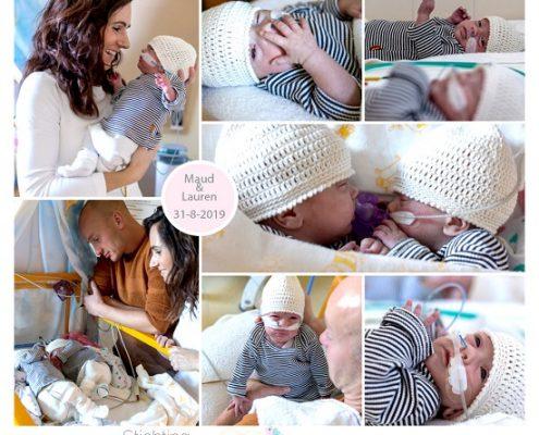 Maud & Lauren prematuur geboren met 27 weken, tweeling, Isala Klinieken, gebroken vliezen, weeenremmers, longrijping, sonde