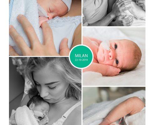 Milan prematuur geboren met 30 weken en 5 dagen, Radboud MC, CPAP, Gelderse Vallei, buidelen, sonde