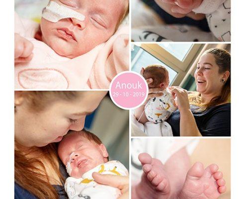 Anouk prematuur geboren met 33 weken, Meander, VUMC, NICU, sonde
