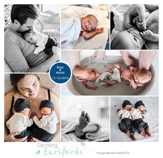 Boaz & Morris prematuur geboren met 35 weken, tweeling, HMC WEsteinde, TTS Syndroom, LUMC, geborken vliezen, keizersnede