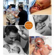 Britt & Stijn prematuur geboren met 30 weken, tweeling, buidelen, knuffelen, sonde