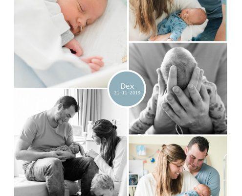 Dex prematuur geboren met 32 weken, groene hart Gouda, gebroken vliezen, weeenremmers, sonde