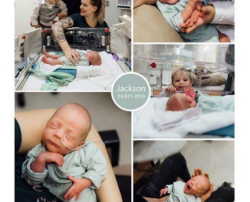 Jackson prematuur geboren met 29 weken en 6 dagen, weeenremmers, longrijping, gebroken vliezen, CPAP, CWZ, couveuse, sonde
