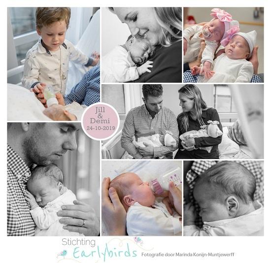 Jill & Demi prematuur geboren met 32 weken, tweeling, ZMC, MoMO, keizersnede, NEC