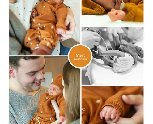 Mart prematuur geboren met 33 weken, keizersnede, Rivierenland Tiel, sonde, vroeggeboorte