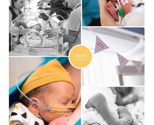 Miah prematuur geboren met 29 weken, Isala Zwolle, buidelen, vroeggeboorte
