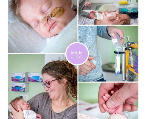 Mirthe prematuur geboren met 32 weken, gebroken vliezen, weeenremmers, sonde, borstvoeding, ZGT Almelo