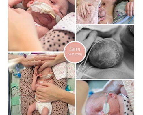 Sara prematuur geboren met 28 weken en 5 dagen, WKZ, Antonius, couveuse, sonde, buidelen