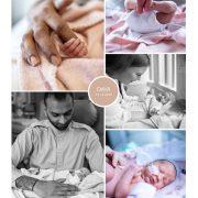 Daya prematuur geboren met 32 weken, stuitligging, neonatologie, couveuse