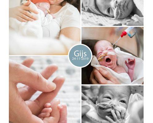 Gijs prematuur geboren met 29 weken, couveuse, sonde, knuffelen