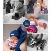 Lex prematuur geboren met 32 weken en 6 dagen, Rijnstate, spoedkeizersnede, neonatologie, CPAP, sonde, couveuse