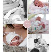 Nora prematuur geboren met 28 weken, couveuse, CPAP, buidelen, groeiachterstand, sonde, spoedkeizersnede