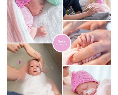 Sara prematuur geboren met 28 weken, NICU, St. Antonius Nieuwegein, buidelen, sonde