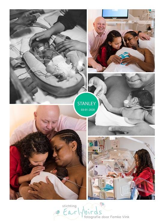 Stanley prematuur geboren met 28 weken en 5 dagen, LUMC, longrijping, couveuse, sonde