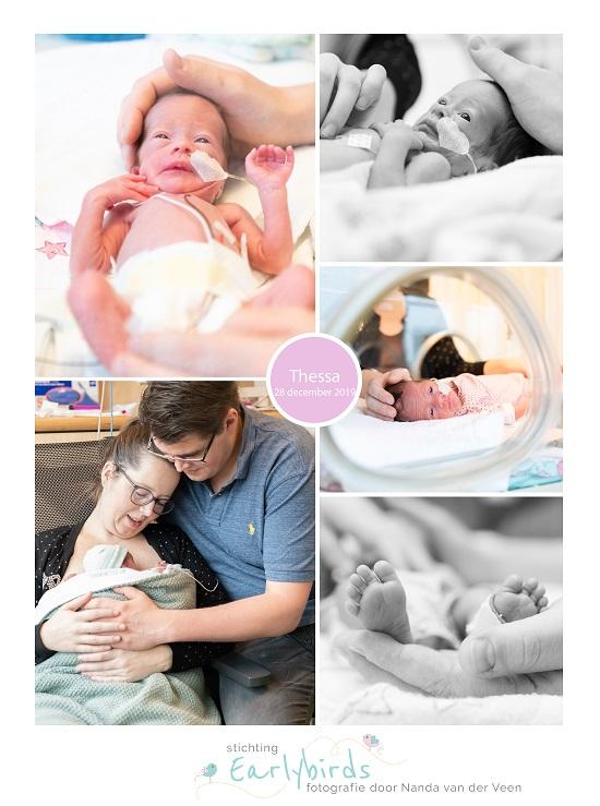Thessa prematuur geboren met 31 weken, spoedkeizersnede, MCL, couveuse, sonde, buidelen