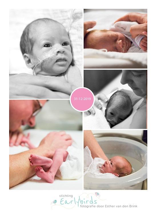 klein meisje prematuur geboren met 33 weken, CWZ, groeiachterstand, badderen, buidelen, sonde