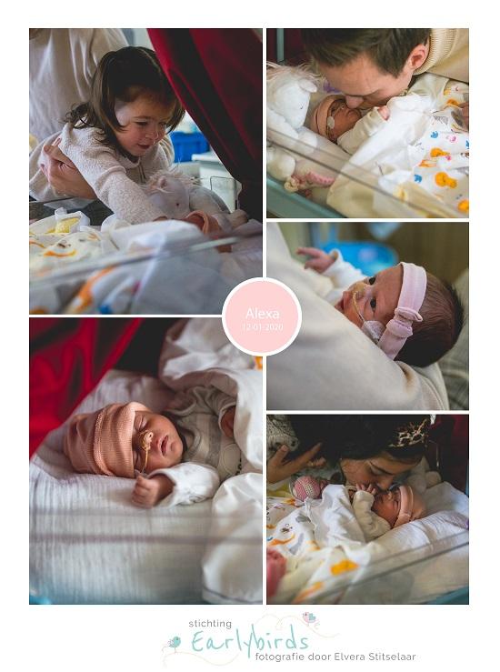 Alexa prematuur geboren met 32 weken, sonde, St. Jansdal, buidelen, couveuse