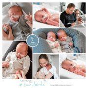Dez & Boaz prematuur geboren met 33 weken, tweeling, Amphia, gebroken vliezen, weeenremmers, longrijping, CPAP, couveuse, sonde
