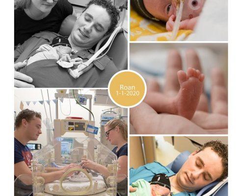 Roan prematuur geboren met 27 weken, Isala Zwolle, groeiachterstand, couveuse, buidelen