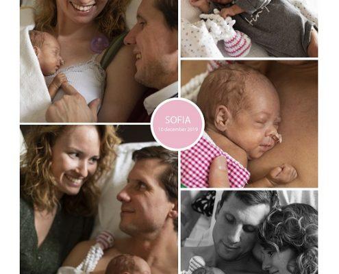 Sofia prematuur geboren met 28 weken, JBZ, knuffelen, sonde, buidelen