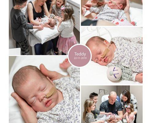 Teddy prematuur geboren met 28 weken, sonde, Bravis, earlybird