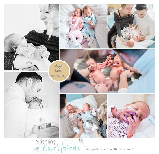 Amy & Luca prematuur geboren met 33 weken, tweeling, sonde, badderen