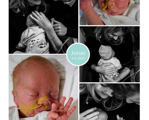 Jonas prematuur geboren met .. weken, zwangerschapscholestase, longrijping, weeenremmers, UMCG, keizersnede, Martini, knuffelen, sonde