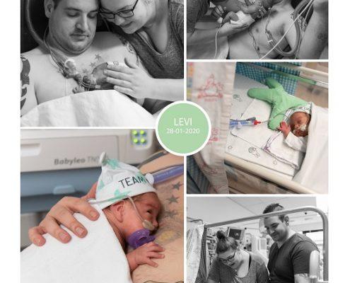 Levi prematuur geboren met 28 weken, Rijnstate, buidelen, sonde