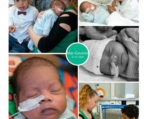 Mar-Gevinio prematuur geboren met 30 weken, Nij Smellinghe, gebrokenvliezen, borstvoeding, buidelen, sonde