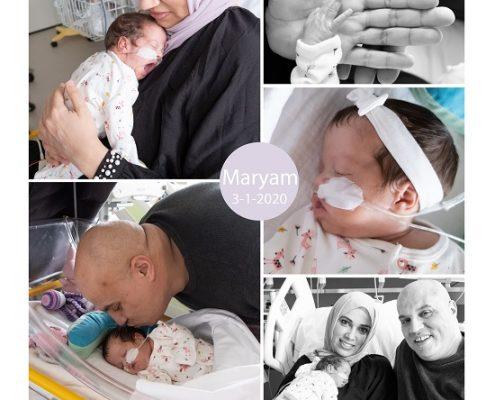 Maryam prematuur geboren met 27 weken, longrijping, Jeroen Bosch, vroeggeboorte, sonde