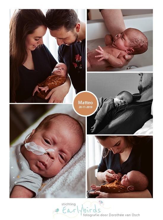 Matteo prematuur geboren met 28 weken, MCA, weeenremmers, badderen, knuffelen, sonde