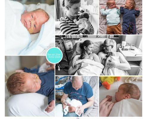 Stan & Bas prematuur geboren met 32 weken, tweeling, Gelre, buidelen, sonde