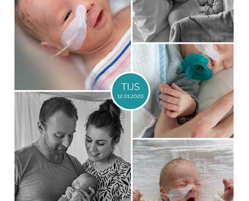 Tijs prematuur geboren met 32 weken, WKZ, Antonius, vroeggeboorte, sonde, buidelen