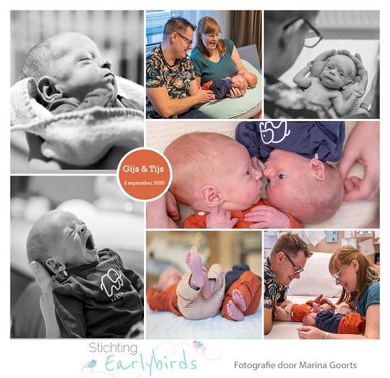 Gijs & Tijs prematuur geboren met 35 weken, tweeling, gebroken vliezen, stuitligging, keizersnede, couveuse