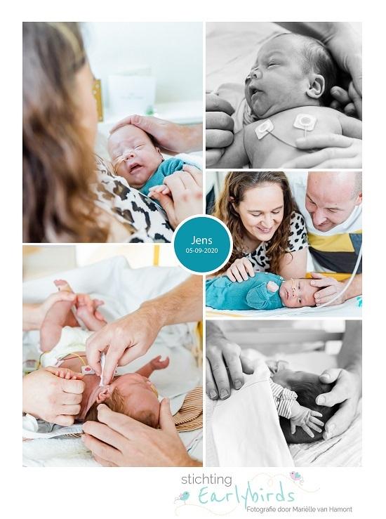Jens prematuur geboren met 25 weken, longrijping, NICU, sonde