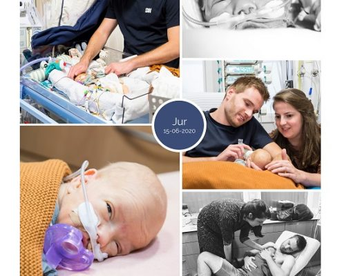 Jur prematuur geboren met 29 weken, AZC, buidelen, snorretje, sonde, vroeggeboorte