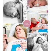 Lily prematuur geboren met 29 weken,, Maastricht UMC, buidelen, sonde, snorretje